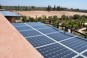 Panneaux photovoltaïque sur pergolas