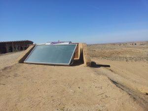 Chauffe eau solaire désert Agafay