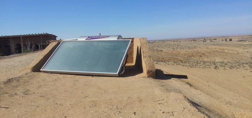 Chauffe eau solaire d?sert Agafay